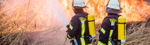 11.03.2017 – Bootsunfall auf dem Rhein und Flächenbrand